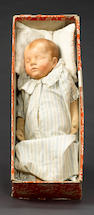 'Traumerchen' Kathe Kruse sand baby in original box, German circa 1930