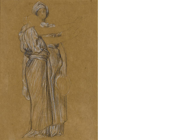 Frederic, Lord Leighton PRA, (British 1830-1896) Study for The Dance 38.8 x 22.9 cm.
