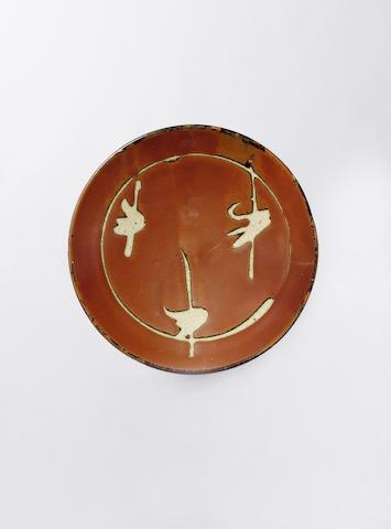 Hamada Shoji a Dish Diameter 25cm (9 7/8in.)