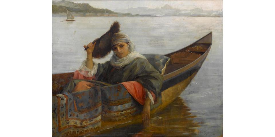 Theodore Jacques Ralli (1852-1909) The Sultan's favourite 38 x 46 cm. (15 x 18 1/4 in.)