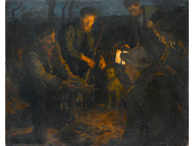 Stanhope Alexander Forbes RA, (British 1857-1947) Snared 102 x 128 cm. (40 x 50 in.)