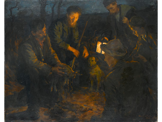 Stanhope Alexander Forbes, RA (British, 1857-1947) Snared 102 x 128 cm. (40 x 50 in.)