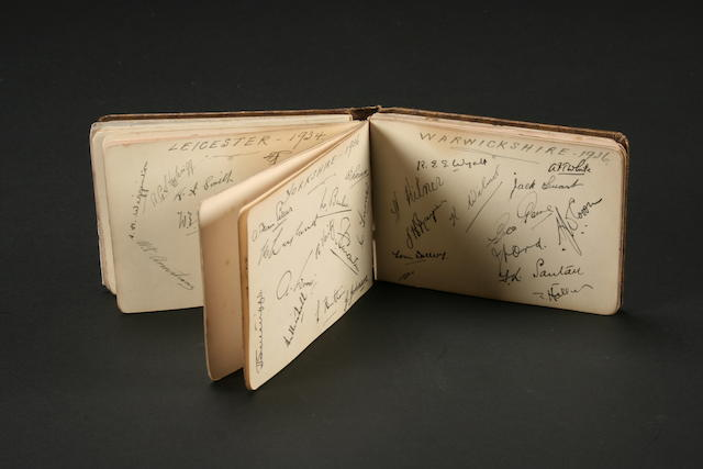 Cricket Autographs 1934-1935