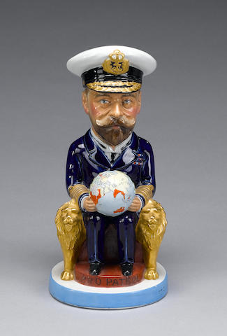 A Wilkinson 'King George V' Toby jug, modelled by Carruthers Gould, circa 1918