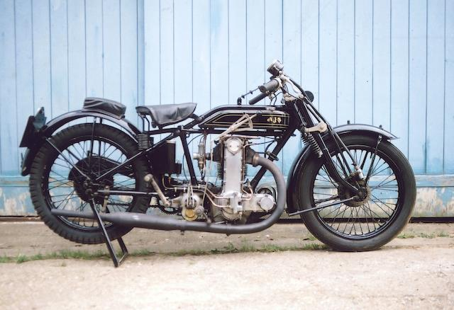 1928 AJS 495cc K10  Frame no. 89966 Engine no. 89966
