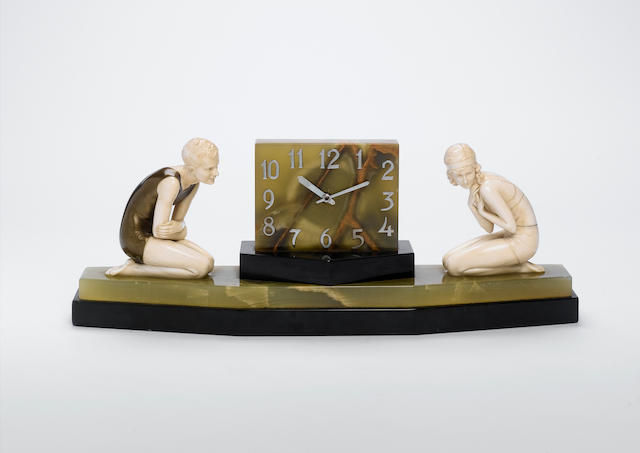 Ferdinand Preiss `The Bathers' A Rare Art Deco Figural Clock, circa 1925