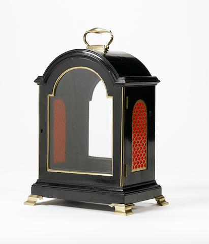 A regency ebonised bracket clock case