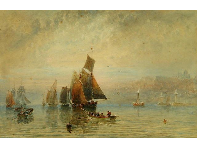 George Weatherill (1810-1890) Nearing Harbour, Whitby