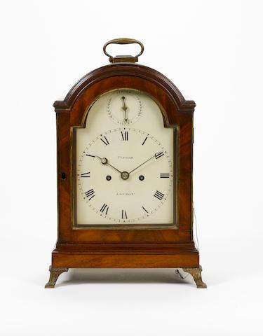 An early 19th century mahogany bracket clock Tupman, London