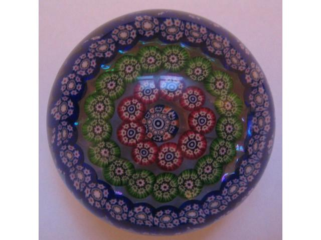 A Paul Ysart concentric millefiori weight,