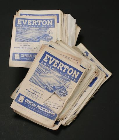 Everton home programmes 1941 to 1949