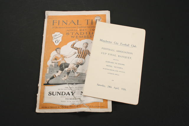 1926 FA Cup Final programme