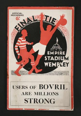 1934 FA Cup Final programme