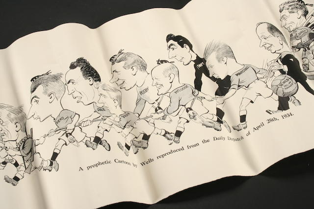 1934 Cup Final cartoon of City Players