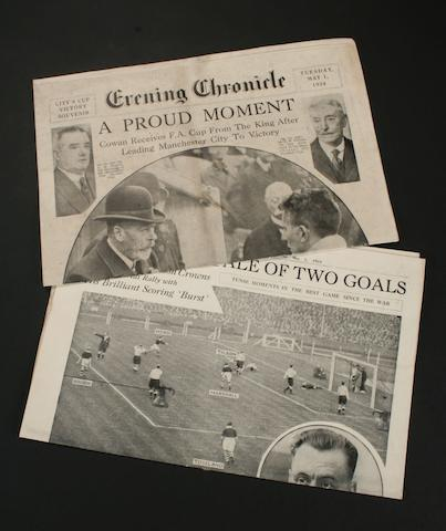 Evening Chronicle featuring the FA Cup Final