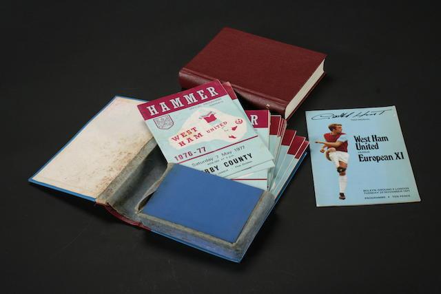 Bound Volumes, West Ham 1971-72 and 1976-77