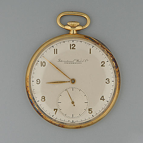 International Watch Co.  An open-face slim pocket watch