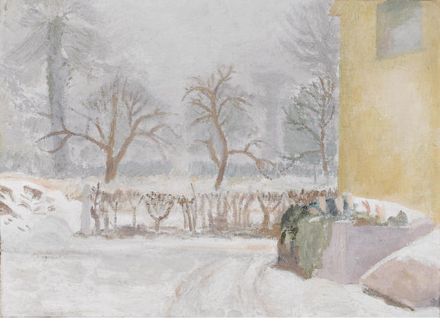 Mary Potter (b.1920) Snow 46 x 61 cm. (18 1/8 x 24 in.)