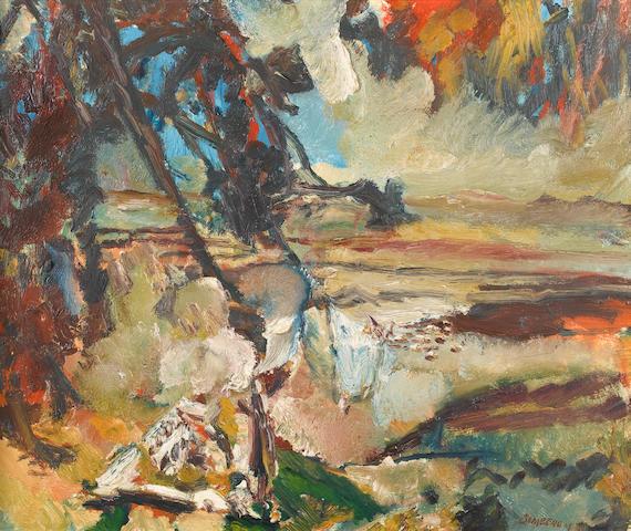 David Bomberg (1890-1957) Cypriot landscape 63.5 x 76 cm. (25 x 30 in.)