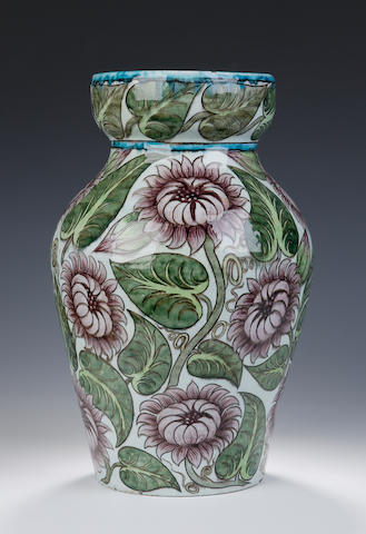 An 'Isnik' vase by Edward Porter William De Morgan,