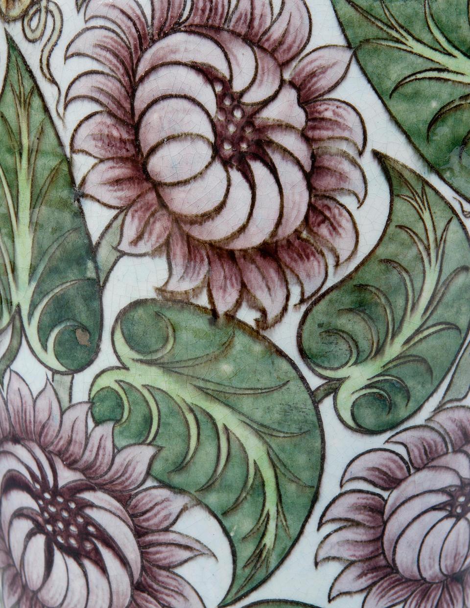 An 'Isnik' vase by Edward Porter William De Morgan,