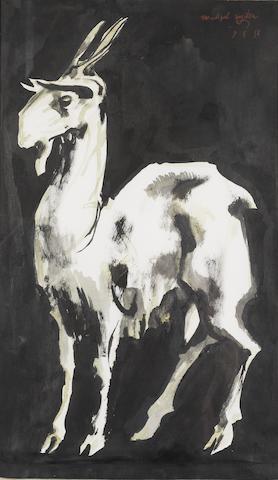 Michael Ayrton (1921-1975) Goat at Cumae 50.8 x 32.7 cm. (20 x 11 7/8 in.)