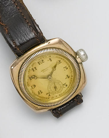 Rolex. A gents 9ct gold wristwatchOyster, retailed by C.Bucherer, 1930's