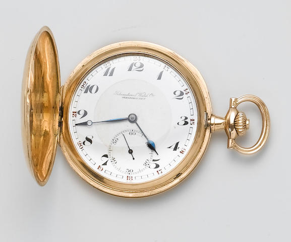 IWC. A 14ct gold full hunter pocket watch Circa 1913