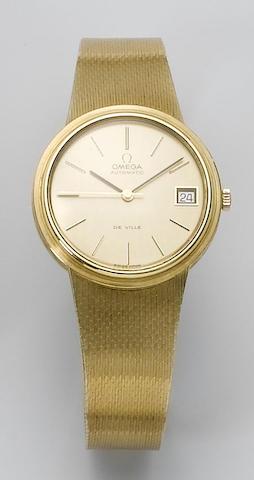 Omega. An 18ct gold calendar bracelet watch  1970's