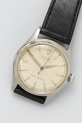 Rolex. A stainless steel wristwatch Oyster Royal, 1948