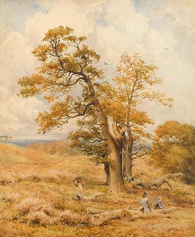 Thomas James Soper  (British, 1836-1890)  Gathering sticks.