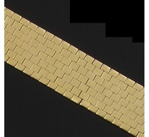 A broad brick-link bracelet (3)