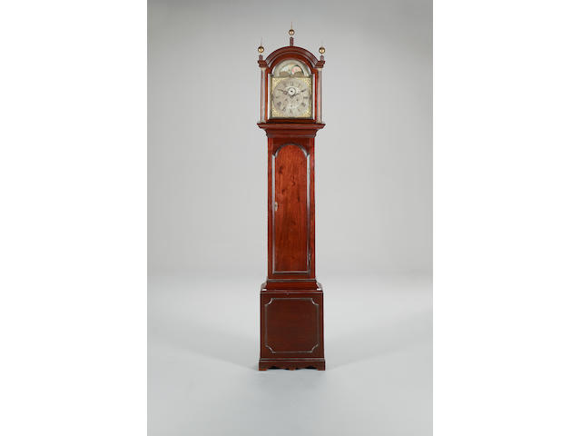 Late 18th century mahogany longcase clock with moon-phase Signed Thomas Morphet, London