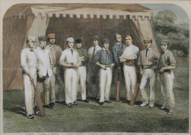 Colour print of The Surrey Eleven