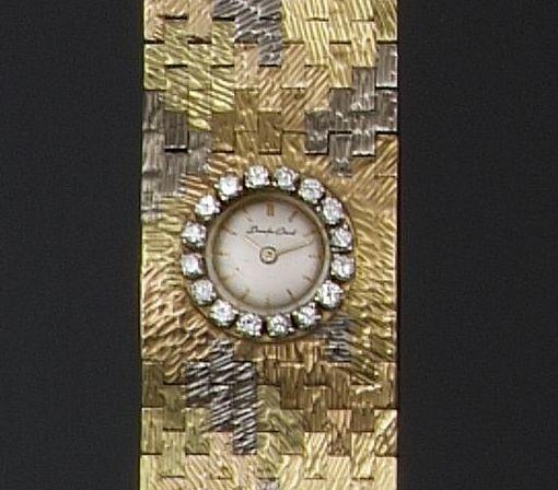 Bueche Girod: A diamond set lady's wristwatch 2