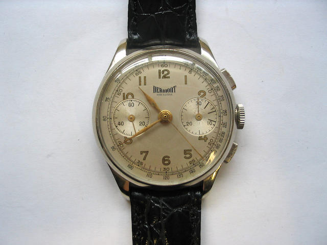 Dermont. A stainless steel chronograph wristwatch  1950's