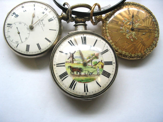 A lot of three various pocket watches