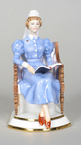 A Royal Worcester limited edition figure 'Sister Nursing Hospital'