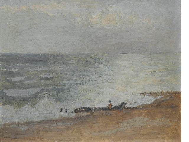 Mary Potter (1900-1981) Deserted Beach, Brighton 24 x 30 cm. (9 1/2 x 11 3/4 in.)
