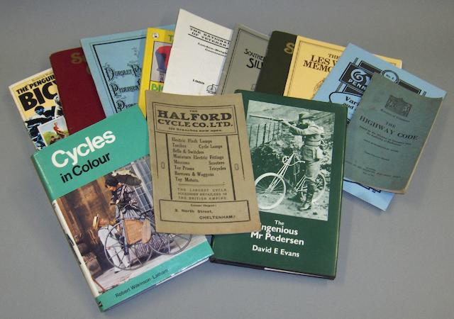 A collection of Cycling books and ephemera,
