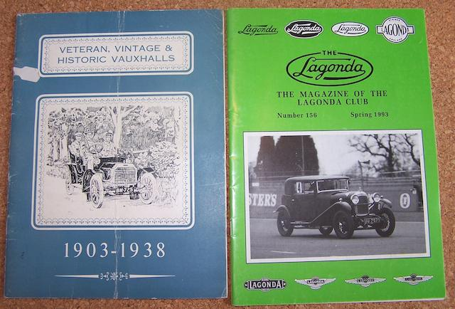 Various motoring programmes and periodicals,