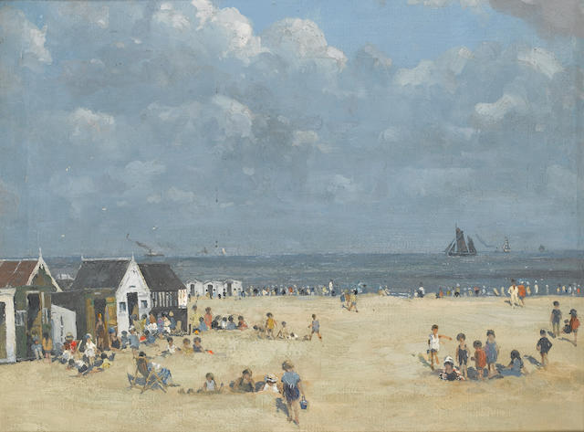 Campbell Archibald Mellon (1876-1955) Beach at Gorleston 51 x 61 cm. (20 x 24 in.)