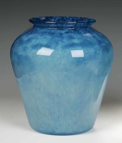 A Monart vase Shape possibly HF (label F), size VI