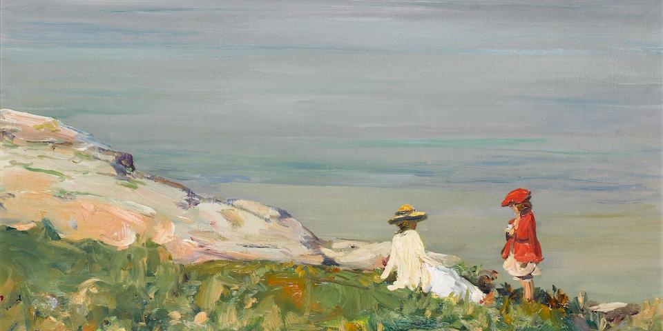 "Sir John Lavery ""On the Cliffs"""