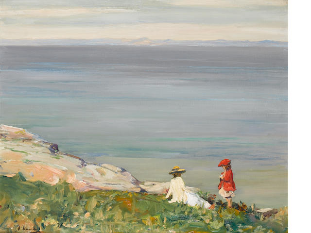 "Sir John Lavery ""On the Cliffs"""