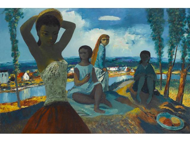 Daniel O'Neill (1920-1974) Summer 60.8 x 91 cm. (23 7/8 x 35 7/8 in.)