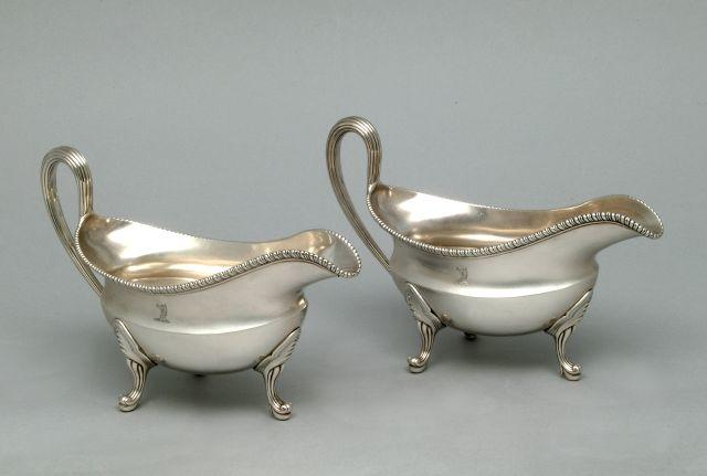 A pair of George III silver sauce boats. Circa 1768/70 (2)