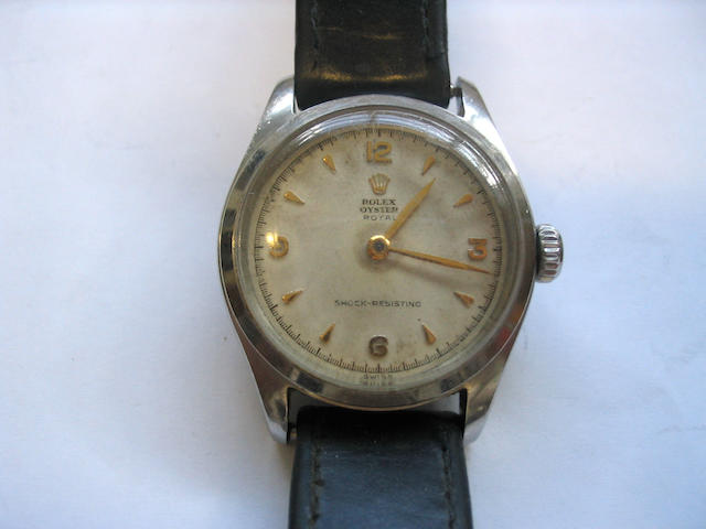 Rolex. A gents stainless steel wristwatchOyster Royal 1952