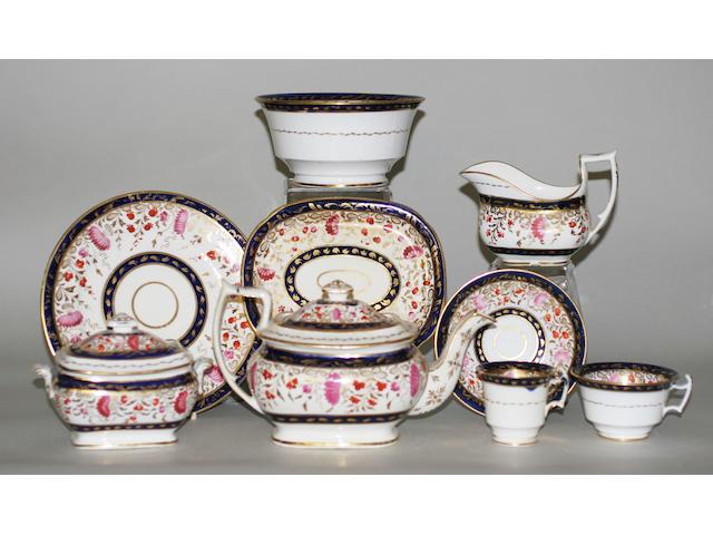 An English porcelain tea service
