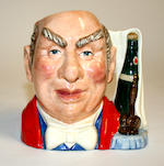 Jugs The Toastmaster A Doulton Prototype Small-Size Character Jug circa 1995
